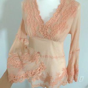 Boston proper Lace Embroidered Tunic